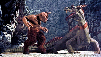 Ray Harryhausen - The cyclops and dragon battle sequence from The 7th Voyage of Sinbad (1958).