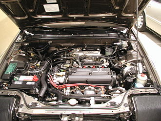 Honda A engine - The fuel injected A20A3 engine in a 1989 Accord SE-i