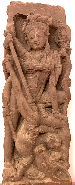 Mahishasura - Durga killing Mahishasura, 9th century Sirpur temple, Chhattisgarh.