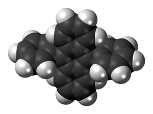 9,10-Diphenylanthracene - Image: 9,10 Diphenylanthracene 3D spacefill