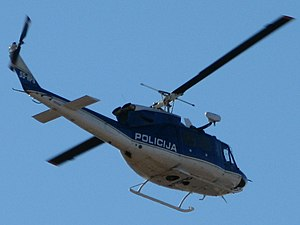 Law enforcement in Slovenia - Agusta Bell 212