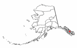 Location of Petersburg in Alaska