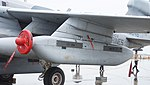 ALQ-99F TJS mounted on U.S. Marine Corps EA-6B Prowler(163046) of VMAQ-2 left front view at MCAS Iwakuni May 3, 2015.jpg