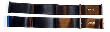 ATA cables: 40 wire ribbon cable top, 80 wire ribbon cable bottom