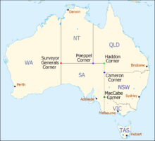 aus map with named state corners