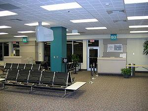 Entrance to gates at Asheville Regional Airpor...