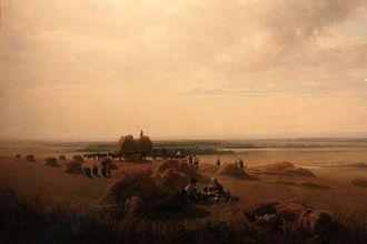 Peter De Wint - Image: A Cornfield, by Peter de Wint