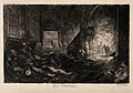 A Parisian street filled with the dead and dying. Etching by Wellcome V0010583.jpg