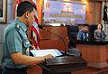 A Republic of Indonesia Navy sailor briefs Adm. Dr 130529-N-NX489-033.jpg