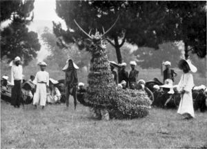 Shan people - A Shan deer dance ceremony in the early 1900s