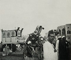A Silver-and-Ivory Palanquin Suspended Between Camels in the Procession of a Pilgrim Returned from Mecca. (1911) - TIMEA.jpg