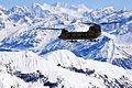 A U.S. Army Alaska Aviation Task Force CH-47 Chinook helicopter flies along the Alaska Range on its way to Kahiltna Glacier, Alaska, on May 20, 2013 130520-A-SO352-011.jpg