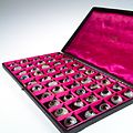A case filled with a selection of 50 glass eye Wellcome L0036575.jpg