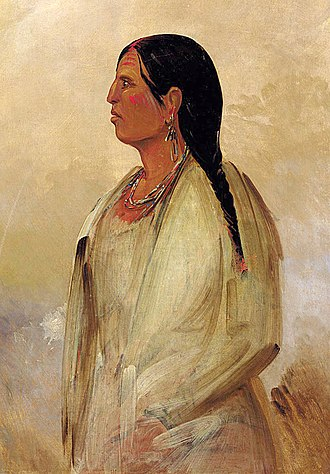 Indigenous peoples of the Southeastern Woodlands - Painting of a Choctaw woman by George Catlin