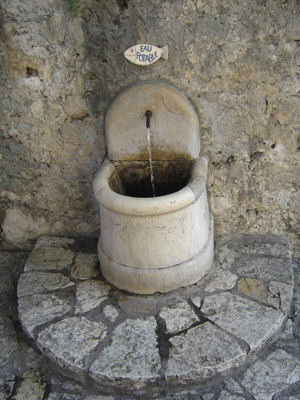 A drinking fountain in Saint-Paul-de-Vence
