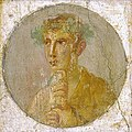 A fresco portrait of a man holding a papyrus roll, Pompeii, Italy, 1st century AD.jpg