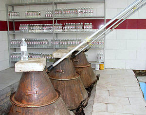 Rose water - A small manufactory of rose water in Kashan