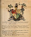 A mock escutcheon for the failed College of Surgeons; satiri Wellcome V0011303.jpg