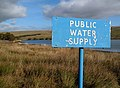A public water supply sign at Winterhope Reservoir - geograph.org.uk - 1546821.jpg