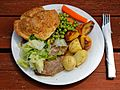 A roast beef dinner at The Queen's Head, Boreham, Essex, England - darker.jpg