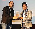 A token of appreciation presented to Peter Hein Offl by the Deputy Director, Shri Rizwan Ahmed, during the 47th International Film Festival of India (IFFI-2016), in Panaji, Goa on November 24, 2016.jpg