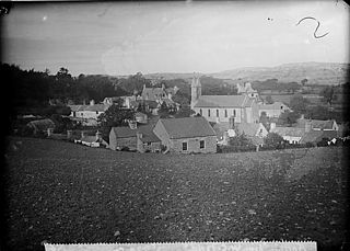 A view of Betws-yn-Rhos from W.C. field