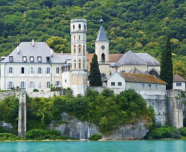 Abbey of Hautecombe from the Lake of Bourget