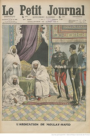Alaouite dynasty - Abdication of Abdelhafid in 1912