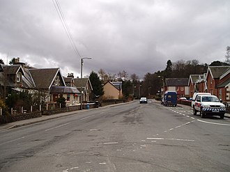 Abington, South Lanarkshire - Image: Abington Main Street geograph.org.uk 145180