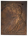 Abraham Lincoln, Bronze Plaque by Victor Brenner (back).jpg