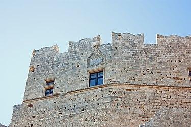 Acropolis of Lindos medieval wall 2010 closeup.jpg