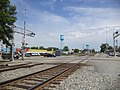 Adel 4th St, double railroad crossing.JPG