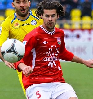 Adnan Zahirović - Zahirović playing for Spartak Nalchik in 2012