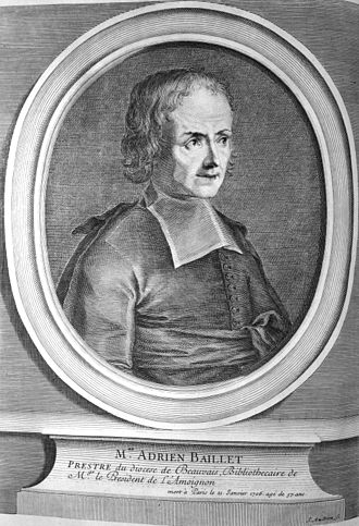 Adrien Baillet - Adrien Baillet, gravure, postuum (1715)