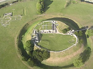 Old Sarum - Aerial view of Old Sarum