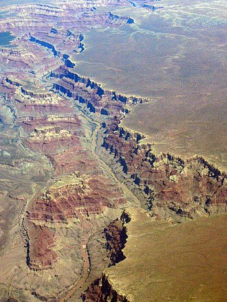 Canyon - The Grand Canyon, Arizona, at the confluence of the Colorado River and Little Colorado River
