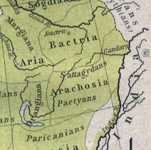 History of Afghanistan - Arachosia, Aria and Bactria were the ancient satraps of the Achaemenid Empire that made up most of what is now Afghanistan during 500 BCE. Some of the inhabitants of Arachosia were known as Pactyans, whose name possibly survives in today's Pakhtuns (Pashtuns).