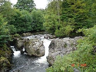 Betws-y-Coed - Image: Afon Llugwy from Pont y pair