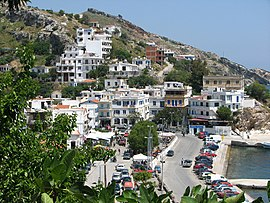 View of Agios Kirykos, Ikaria's capital