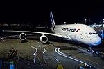 Air France Airbus A380-861 at HKIA.jpg
