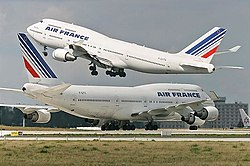 Air France B747-428 (F-GITC and F-GITH) at Paris-Charles de Gaulle Airport.jpg