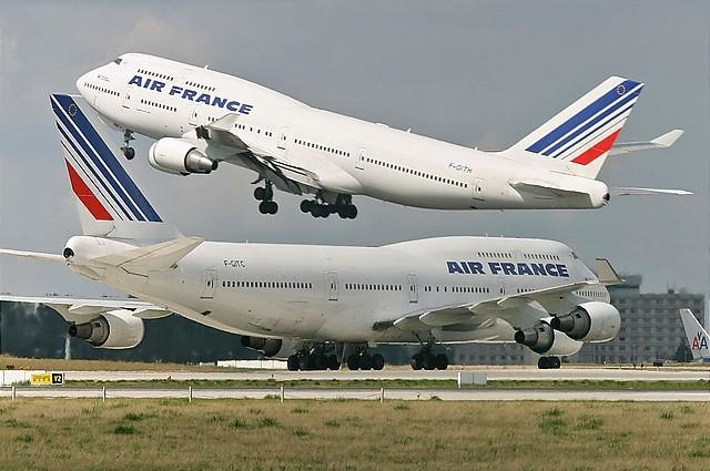 Air France B747-428 (F-GITC and F-GITH) at Paris-Charles de Gaulle Airport