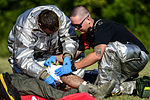 Aircraft mishap exercise tests JBLE, local response capabilities 140725-F-KB808-059.jpg