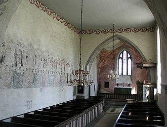 Ala Church - Image: Ala kyrka nave 01