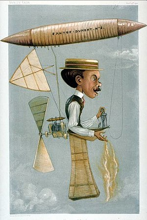 Alberto Santos-Dumont - Caricature from Vanity Fair, 1899