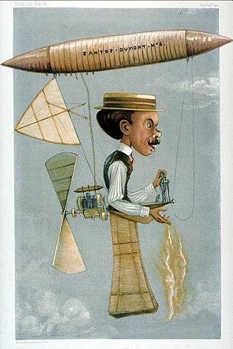 Alberto Santos-Dumont - Caricature from Vanity Fair, 1899