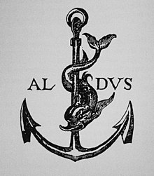 Image result for anchor aldus manutius