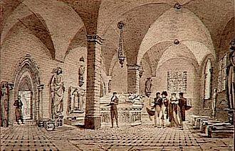 Alexandre Lenoir - Image: Alexandre Lenoir avec Napoléon et Joséphine au Musée des monuments français