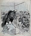 Alfred Dreyfus as an imprisoned eagle Wellcome V0049575.jpg