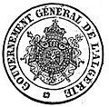 Algérie française sceau Gouvernement Général de l'Algérie 1865.jpg